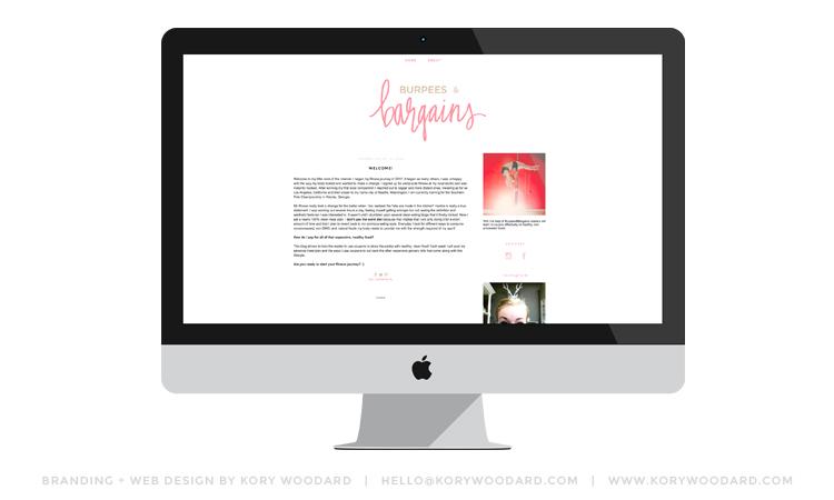 burpees & bargains | branding + blog design by kory woodard