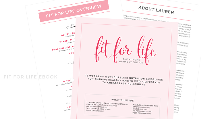 launch / fit for life ebook