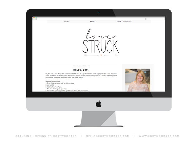 love struck | branding + design by kory woodard