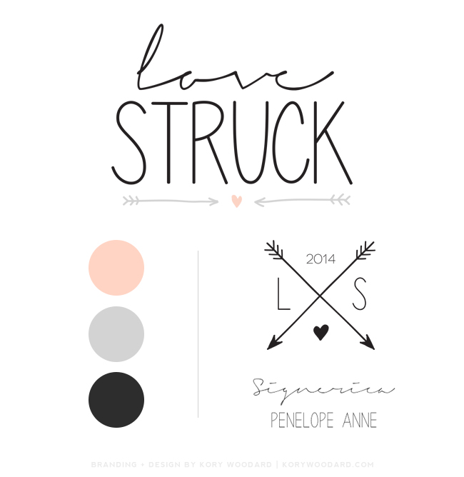 love struck brand board | branding + design by kory woodard