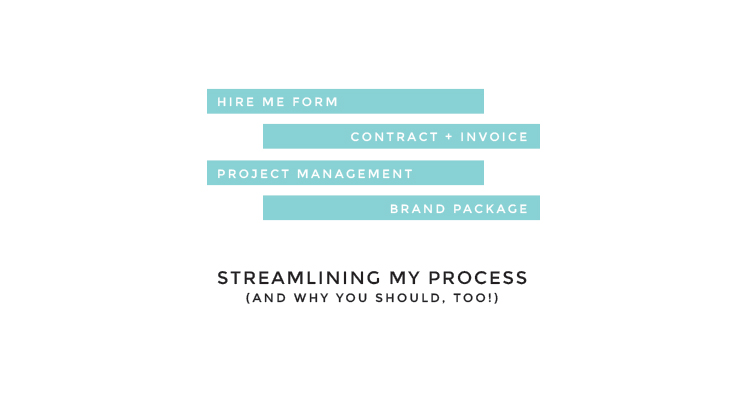 I streamlined my process, and I think you should, too!