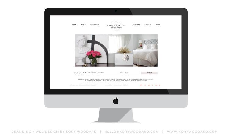christine elliott designs   branding + web design by kory woodard