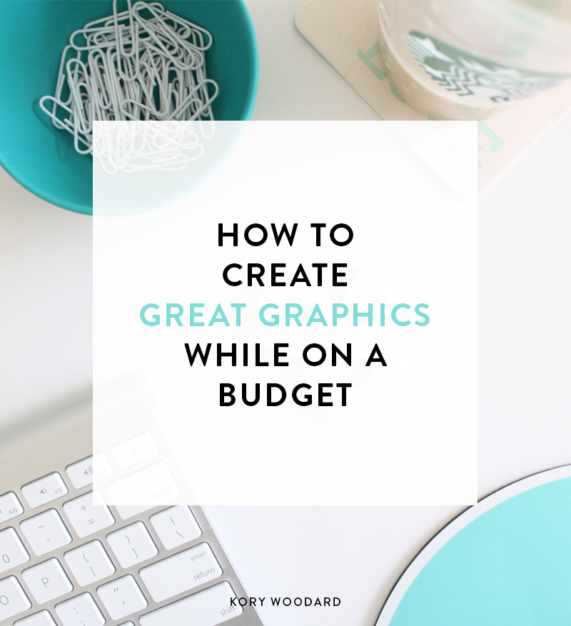 How can you keep your graphics consistent or even good looking if you don't have Photoshop or tons of premium fontsand aren't in the place to start investing in your blog? Well, I'm here to help you figure out how to do that today!