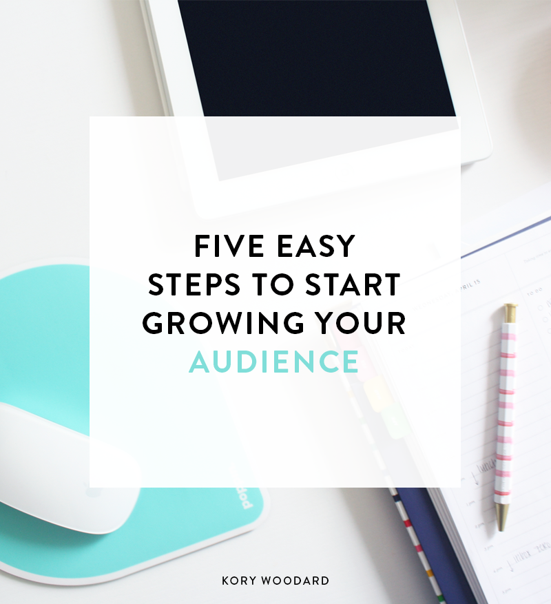 Growing your audience - it's the main thing people struggle with when they first start blogging. However, it's not impossible. As long as you're willing to put in the time to grow your audience, it can happen with these five steps