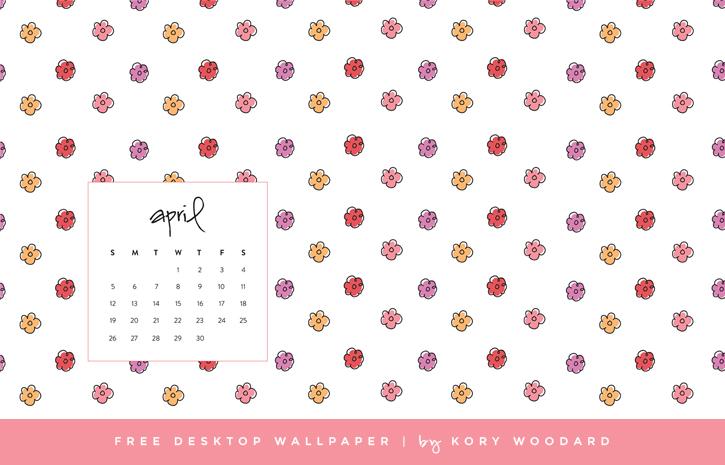 free April desktop wallpaper by Kory Woodard