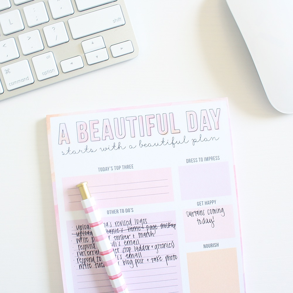 A Beautiful Day Planner from Saltwater Design Shop