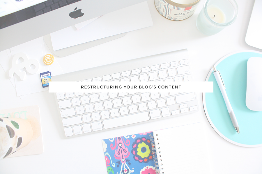 restructuring your blog's content