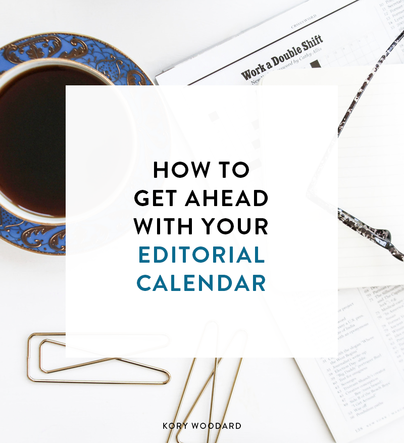 The idea of having an editorial calendar has been covered here several times over the last few years of this blog. Part of the struggle is how to use your calendarand time to get ahead on your posting schedule.So today I've got a few simple steps on how you can get ahead with your calendar!