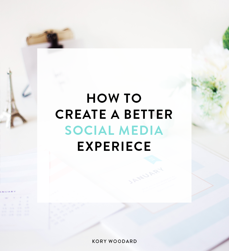 Because I really want to keep the conversation going on simplifying, decluttering, and getting back to what social media is all about, I wanted to share some tips on how to create a better social media experience for yourself and your followers today!