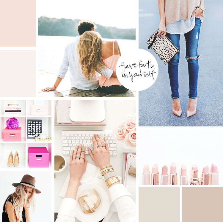moodboard / blush + style | by kory woodard