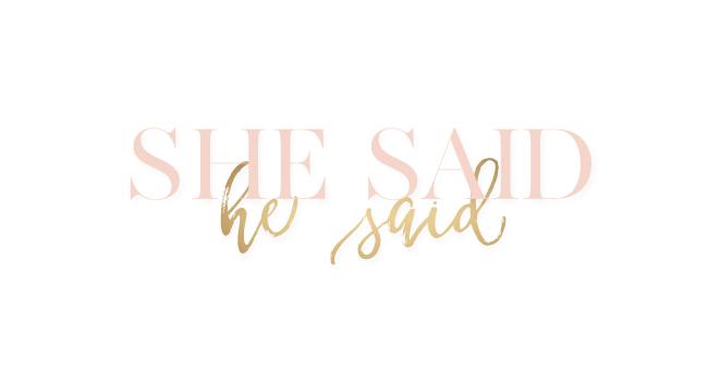 She Said He Said | branding + website design by Kory Woodard