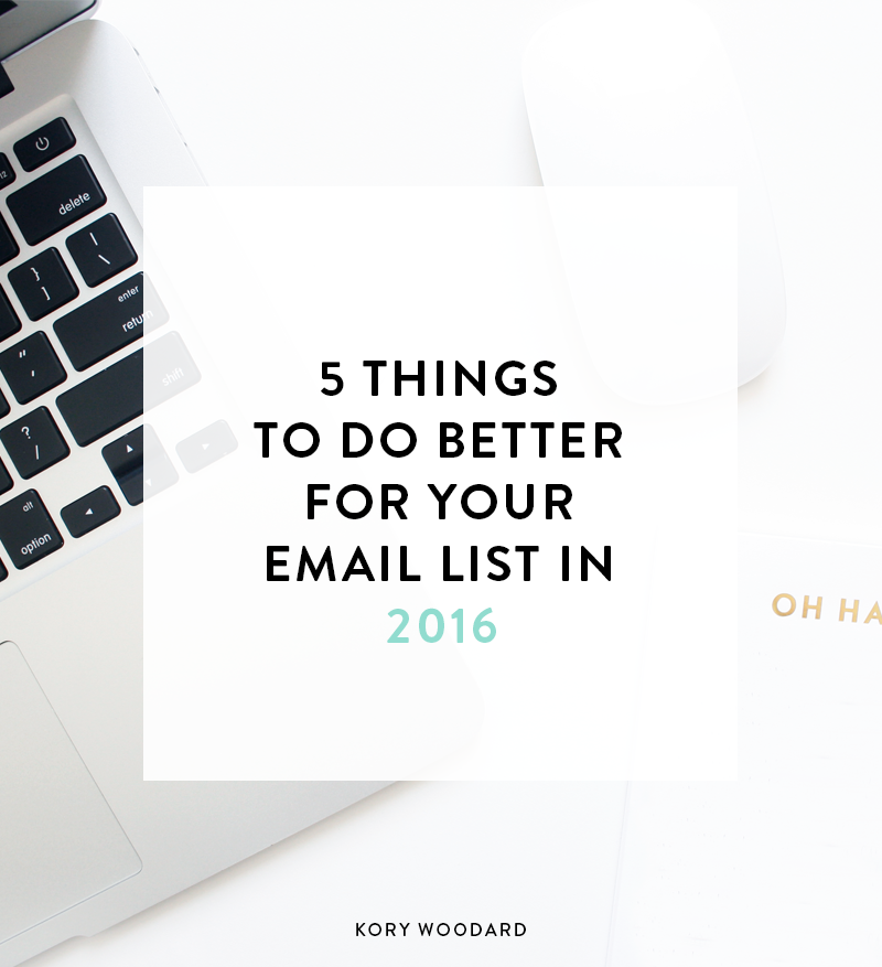 Did you set a goal to start or grow your email list this year? If so, here are 5 things you can do to help you reach those list related goals!