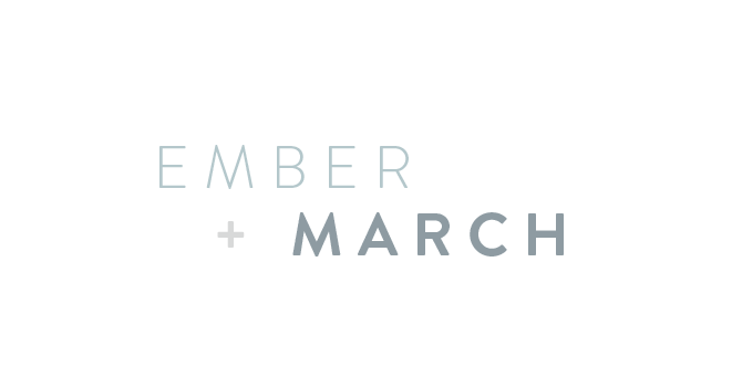 Ember + March logo by Kory Woodard